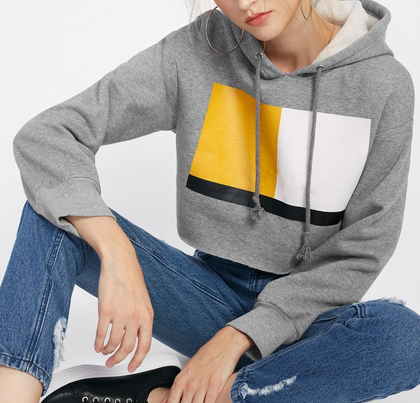 sweater girly grey grey sweater hoodie yellow white black crop tops crop cropped cropped sweater