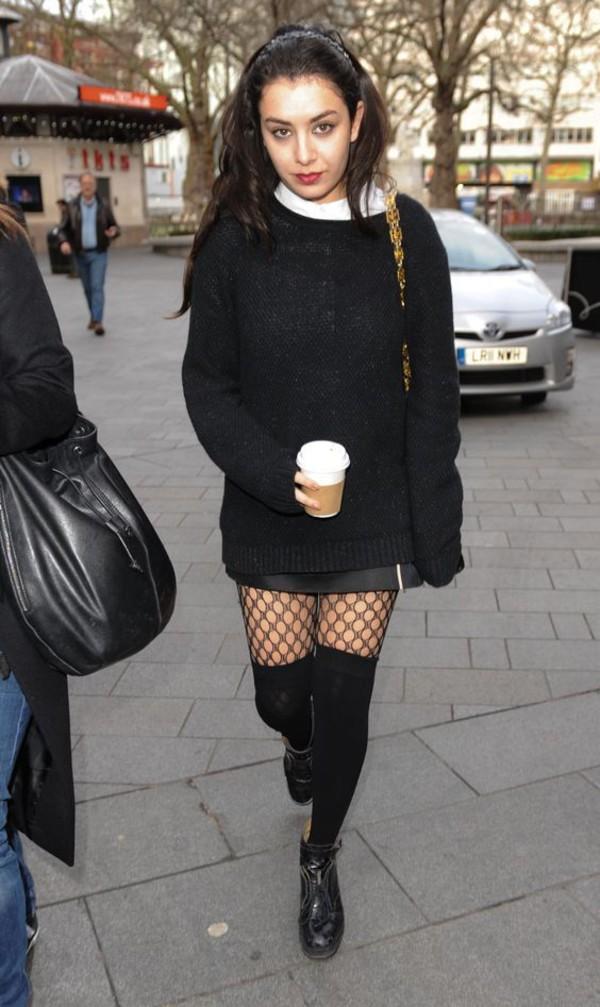 Sweater Charli Xcx Celebrity Singer Black Sweater