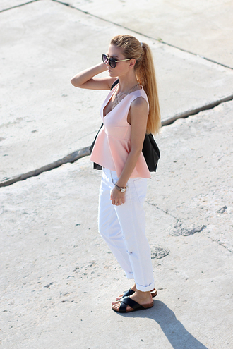 shoes bag jewels blouse jeans sirma markova sunglasses