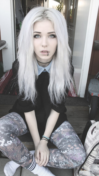 jeans grunge goth indie punk hipster rock leggings leggings tights floral retro sweater shirt pastel grunge floral pants blouse cute soft cool goth hipster dark black scene emo scene piercing clothes beauty fashion shopping underwear make-up where can i get this whole outfit