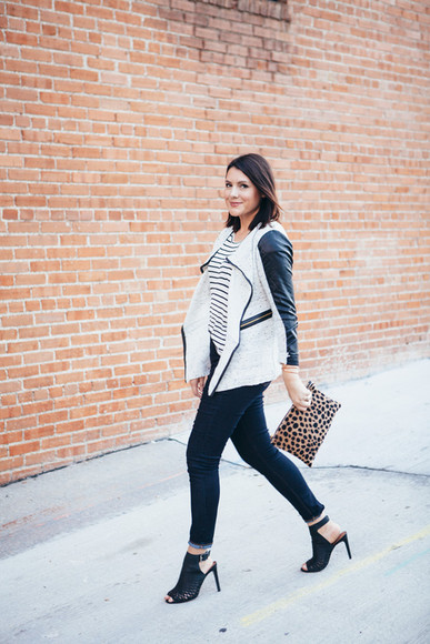 stripes blogger bag t-shirt jewels jeans kendi everyday