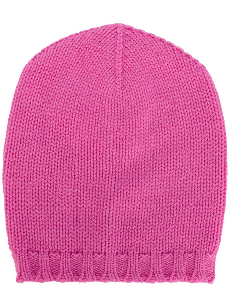 beanie knitted beanie purple pink hat