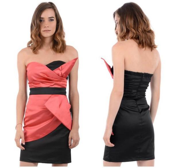 dress black tube dress pink dress