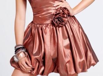 dress metallic difficult copper gold silver platinum prom dress fancy fancy dress formal formal party dresses