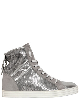 suede sneakers sneakers suede silver shoes