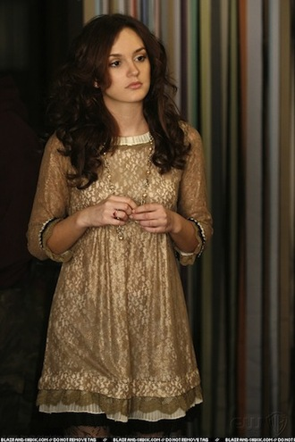 gossip girl leighton meester blair waldorf dress clothes preppy blair trendy classic cute marc jacobs gossip girl blair dress marc  jacob dita dress marc jacobs dita dress marc by marc jacobs lace dress gold gold dress