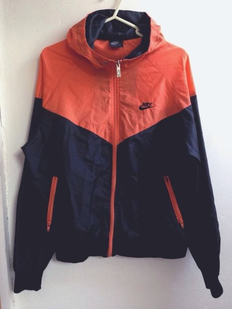 jacket nike orange nike jacket colored windbreaker coat nike jacket nike windbreaker nike windrunner
