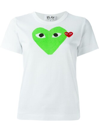 t-shirt shirt heart print white top
