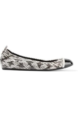 snake ballet flats ballet flats leather print snake print shoes