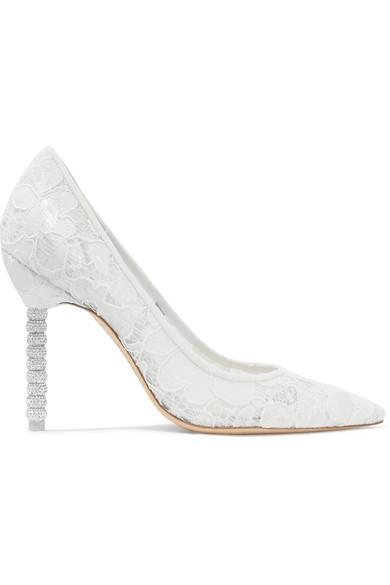 Sophia Webster - Coco crystal-embellished lace pumps