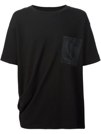 t-shirt shirt pocket t-shirt women cotton black top