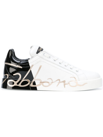 women sneakers leather white print shoes