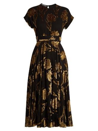 dress midi dress midi floral gold black