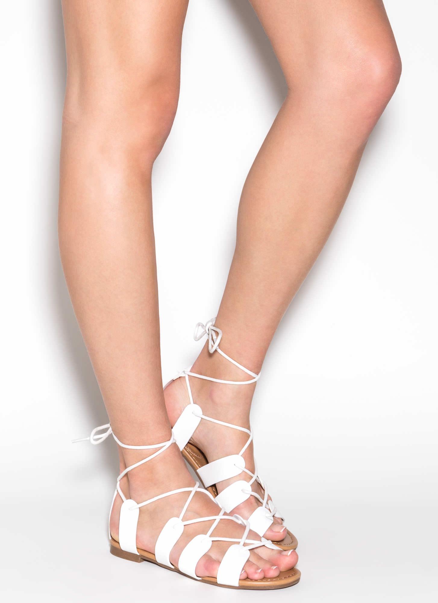 a3bd6b770c6 Best Kept Secret Lace-Up Sandals AQUA BLACK WHITE NATURAL ...