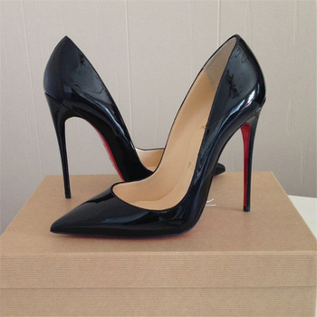 3e8ff8a5bae Aliexpress.com   Buy Sexy red bottom 12 cm high heels pointed toe shoes  women japanned leather ...