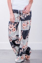 pants,floral,maykool,hot pants,casual