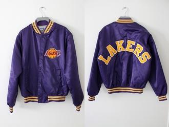 jacket lakers purple jack and jack basketball yellow t-shirt