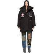 parka,snow,black,coat