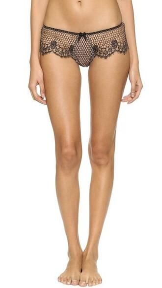 panties lace nude black underwear
