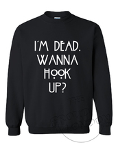 sweater,i'm dead wanna hook up,american horror story,tumblr