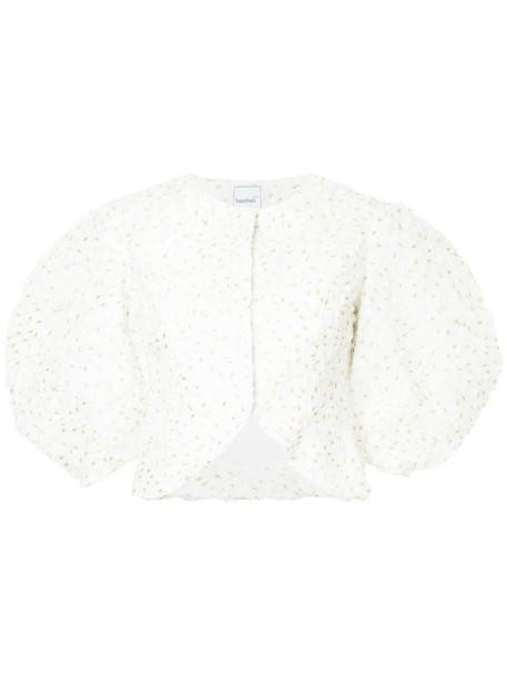 jacket women white cotton
