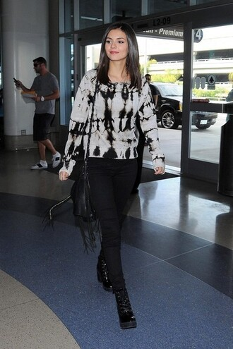 sweater boots victoria justice tie dye