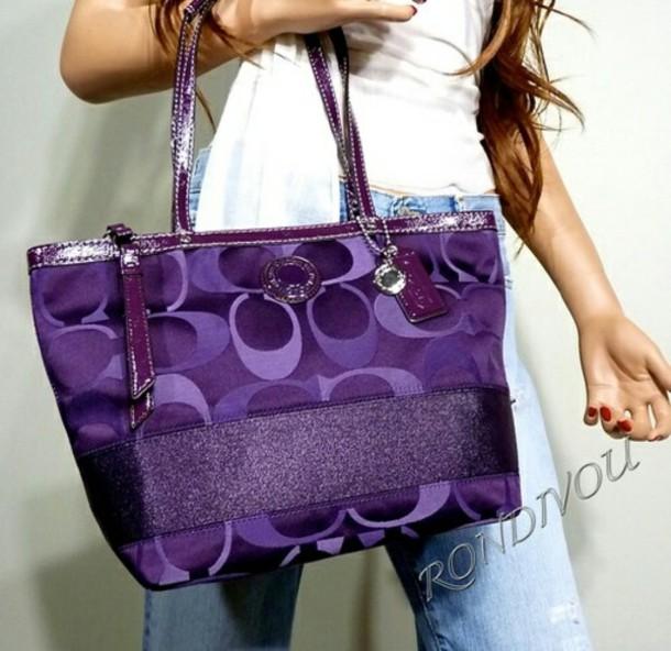 180069f5f9e4 bag purple coach bag