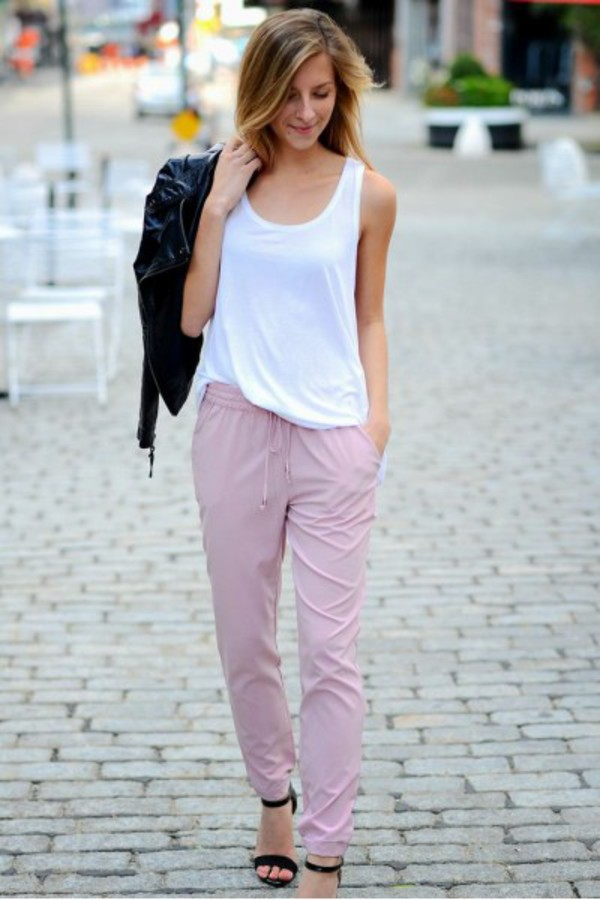 pants slouchy slouchy pants pink drawstring stand out funny comfy fashion fashionista cute cute pants colored pants tumblr clothes