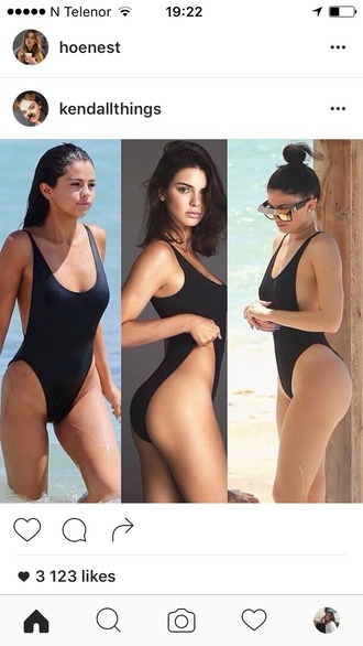 swimwear one piece swimsuit selena gomez kendall jenner kylie jenner girly wishlist love