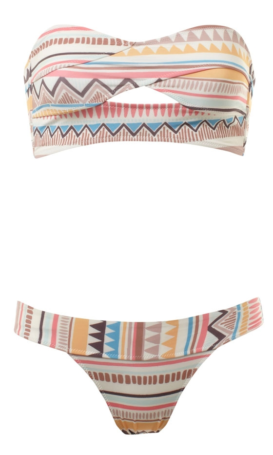 Primark Aztec Bikini, Top £5, Pant £3, Instore End Of May | Look