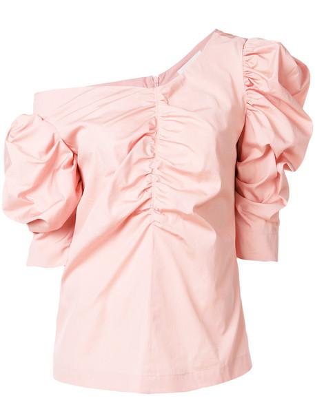 ISA ARFEN blouse women cotton purple pink top