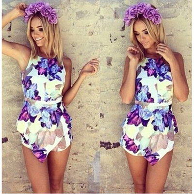 Floral Printed Sleeveless Jumpsuit · favor · Online Store Powered by Storenvy