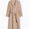 & other stories | loose alpaca blend coat | beige