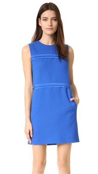 dress shift dress blue