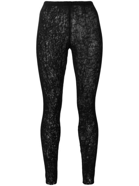 Serien Umerica leggings open women black wool knit pants