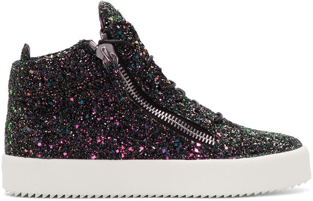 glitter high london sneakers black shoes