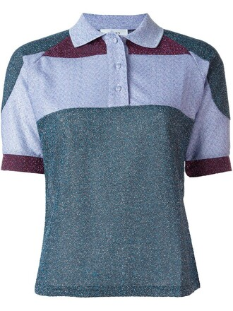 shirt polo shirt short green top