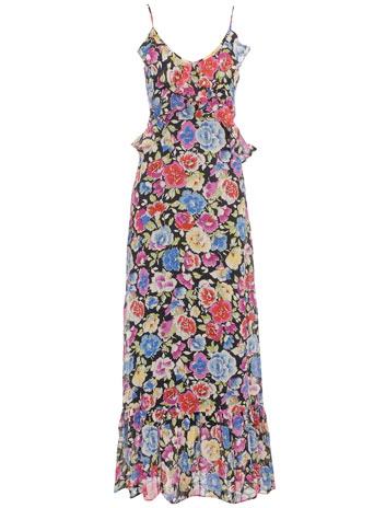 Rise multi floral maxi dress