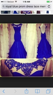 dress,royal blue prom gown,mermaid prom dress,lace dress,vintage