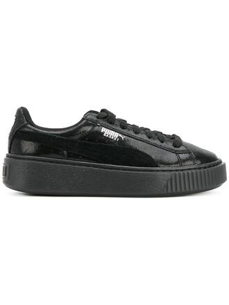 women sneakers platform sneakers leather suede black shoes