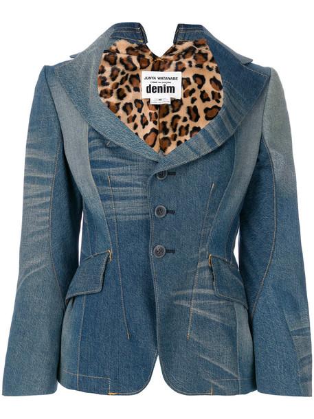 JUNYA WATANABE COMME DES GARÇONS blazer denim women cotton blue jacket