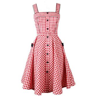 dress rockabilly swing party dress vintage dress