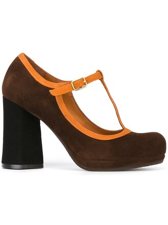 women pumps liberty leather suede brown shoes