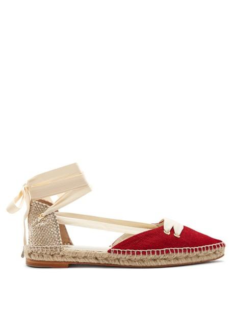 CASTAÑER espadrilles white red shoes