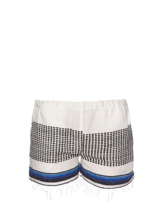 shorts striped shorts blue