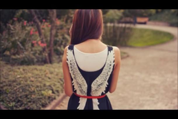 dress angel fly love beautiful black