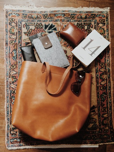 bag brown bag brown leather bag american apparel leather big bag