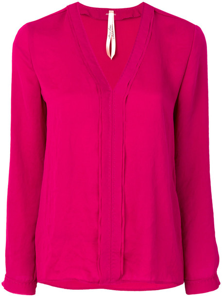 Marc Cain blouse women purple pink top
