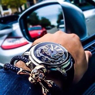 jewels skull bracelets menswear mens accessories