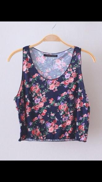 shirt top black pink flower print flower shirt floral blacktop roses roses print roses halter neck